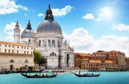 venezia veneto italia basilica di santa maria della salute antico foto panoramica paesaggio
