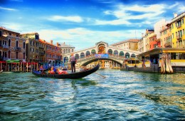 venezia veneto italia ponte rialto foto panoramica paesaggio lago case gondola gondoliere